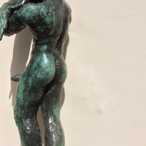 male nude bronze