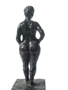 nude female bronze bronze figure 1/8 life size bronze 16X6.5X8.5 inches by artist Manuel Palacio