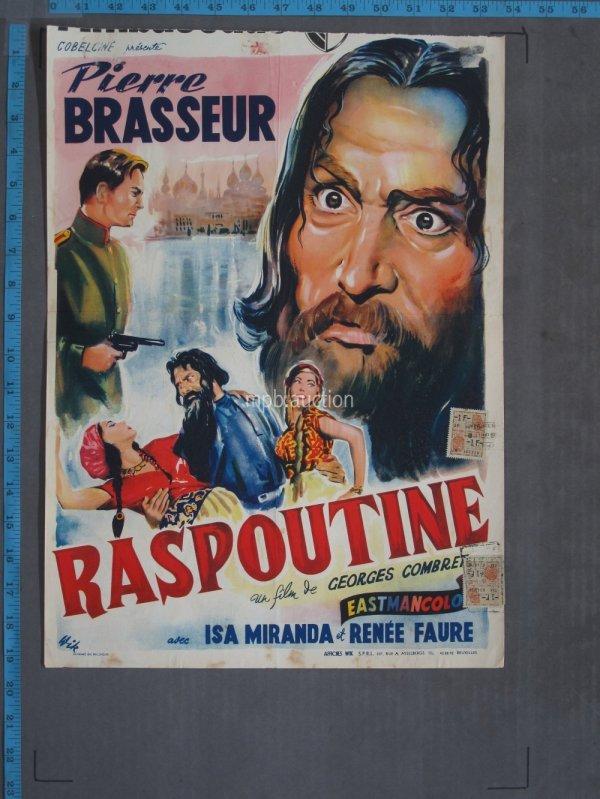 Raspoutine 1954 Original Belgian Movie Poster