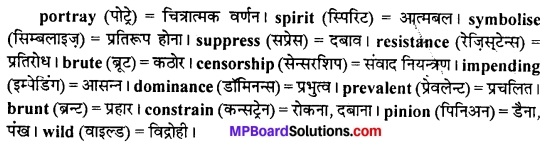 MP Board Class 11th English The Spectrum Solutions Chapter 16 The Broken Wing 3