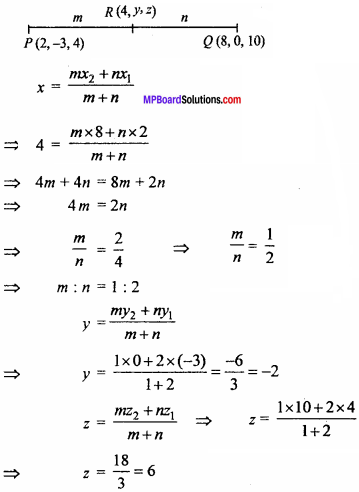 MP Board Class 11th Maths Important Questions Chapter 12 Introduction to Three Dimensional Geometry 12