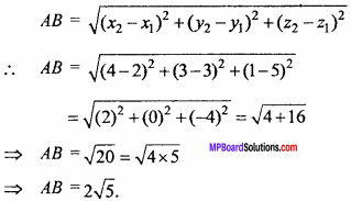 MP Board Class 11th Maths Important Questions Chapter 12 Introduction to Three Dimensional Geometry 3
