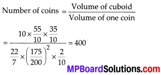 MP Board Class 10th Maths Solutions Chapter 13 Surface Areas and Volumes Ex 13.3 9