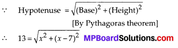 MP Board Class 10th Maths Solutions Chapter 4 Quadratic Equations Ex 4.2 3
