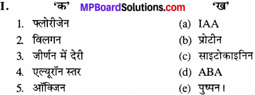 MP Board Class 11th Biology Solutions Chapter 15 पादप वृद्धि एवं परिवर्धन - 1