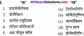 MP Board Class 11th Biology Solutions Chapter 22 रासायनिक समन्वय तथा एकीकरण - 1