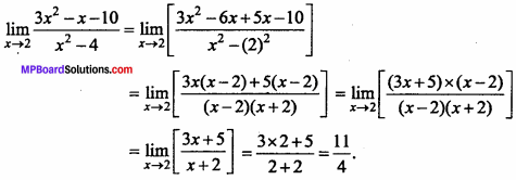 MP Board Class 11th Maths Important Questions Chapter 13 Limits and Derivatives 2