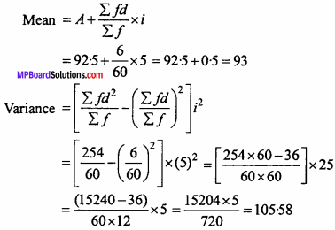 MP Board Class 11th Maths Important Questions Chapter 15 Statistics 21