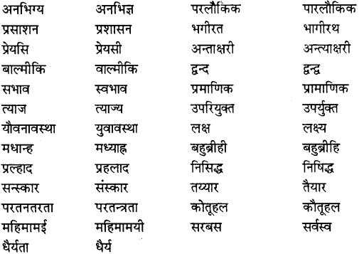 MP Board Class 11th Special Hindi शुद्ध वाक्य रचना सम्बन्धी नियम img-5