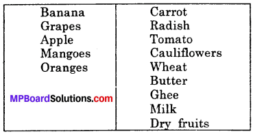 MP Board Class 6th Science Solutions Chapter 1 Food Where Does it Come From img 3