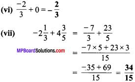 MP Board Class 7th Maths Solutions Chapter 9 परिमेय संख्याएँ Ex 9.2 image 4