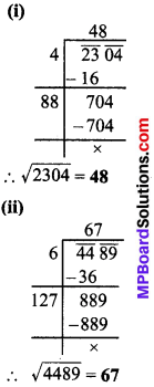 MP Board Class 8th Maths Solutions Chapter 6 वर्ग और वर्गमूल Ex 6.4 img-1