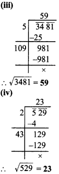 MP Board Class 8th Maths Solutions Chapter 6 वर्ग और वर्गमूल Ex 6.4 img-2