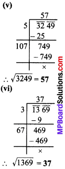 MP Board Class 8th Maths Solutions Chapter 6 वर्ग और वर्गमूल Ex 6.4 img-3