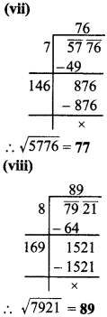 MP Board Class 8th Maths Solutions Chapter 6 वर्ग और वर्गमूल Ex 6.4 img-4