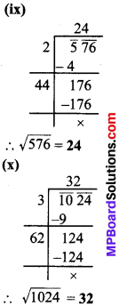 MP Board Class 8th Maths Solutions Chapter 6 वर्ग और वर्गमूल Ex 6.4 img-5