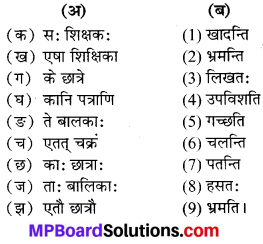 MP Board Class 6th Sanskrit Solutions विविधप्रश्नावलिः 1 Q 8