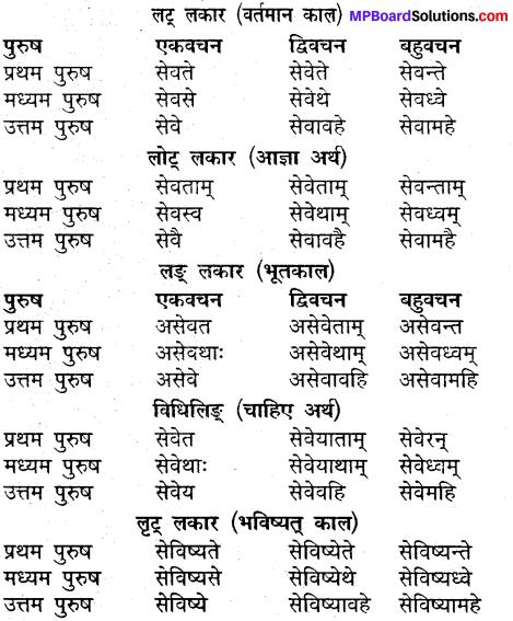 MP Board Class 9th Sanskrit व्याकरण धातु और क्रिया img-23