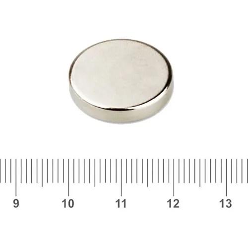 20 x 3mm Disc Neodymium Iron Boron N52 Ni
