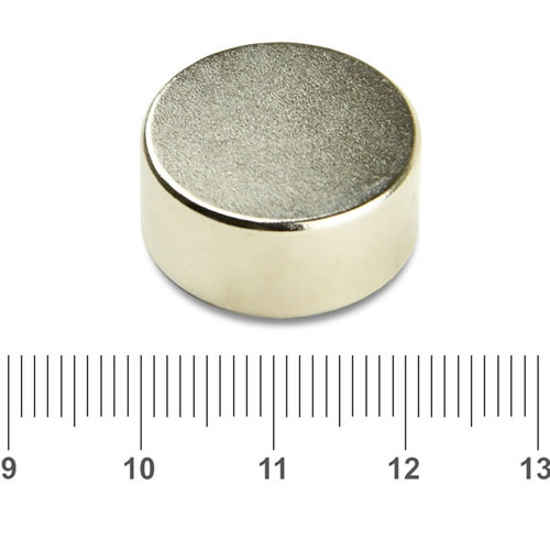 22mm x 10mm Disc Nd Magnet N42 Nickel