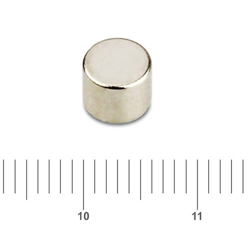 6mm x 5mm Disk Permanent Magnet NdFeB N45 Nickel