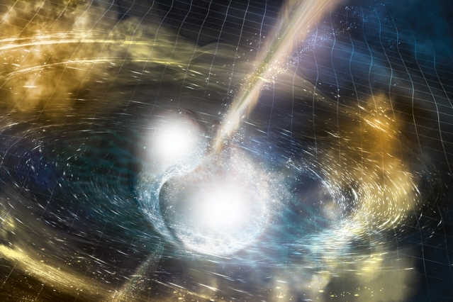 gravitational waves produced by colliding neutron stars