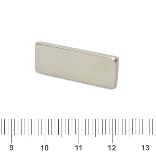 25 x 10 x 2mm Buy NdFeB Magnet Rectangle N42 Nickel