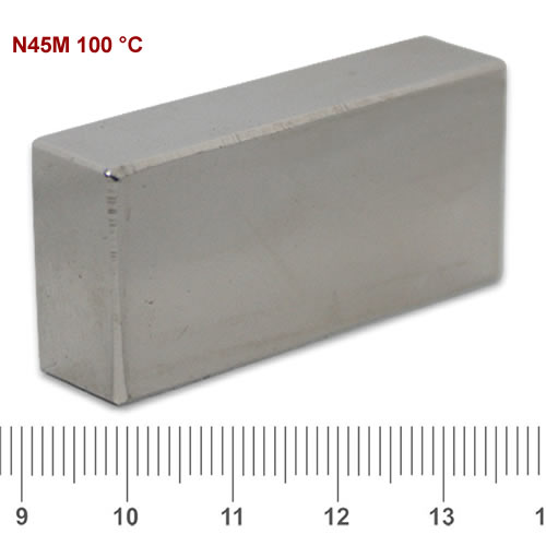 40 x 20 x 10mm Sintered NdFeB Block Magnet N45M Ni
