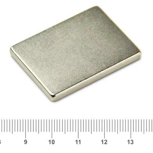 40 x 30 x 4mm Block Discount NdFeB Magnet N42 Ni