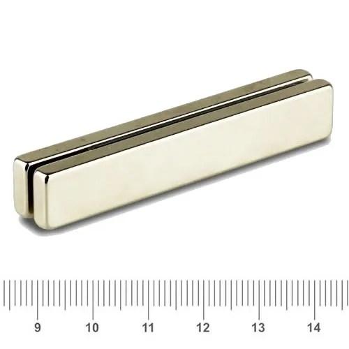 60 x 10 x 4mm Big Bar Magnet NdFeB N40 Ni