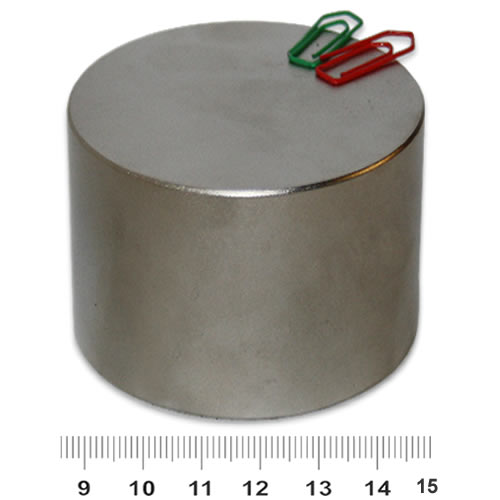 70mm x 50mm Huge Disc Magnet NdFeB N45 Nickel