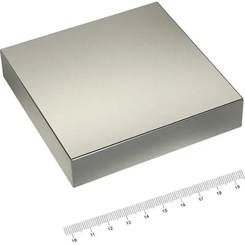 100 x 100 x 20mm Neodymium Industry Magnet N52 Ni