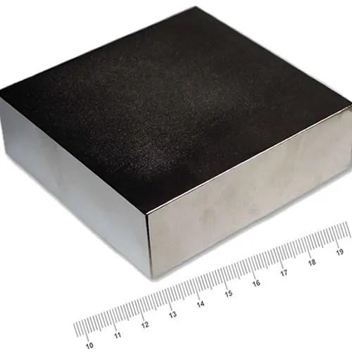 100 x 100 x 30mm Rare Earth Block Powerful Magnet N50 Ni