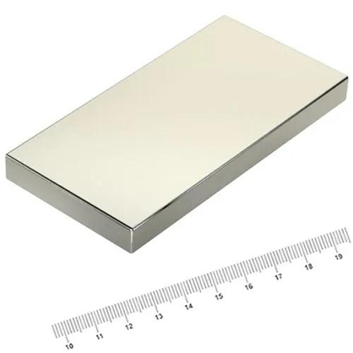 100 x 50 x 10mm Huge NdFeB Magnet Rectangle N45 Ni