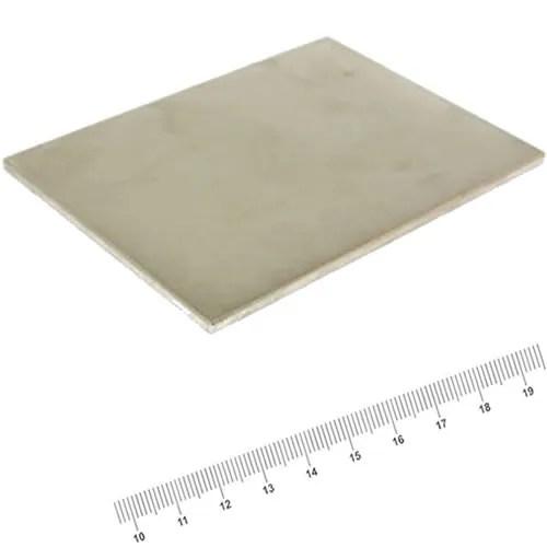 100 x 75 x 3mm Block Permanent Rare Earth Magnet N45 Ni