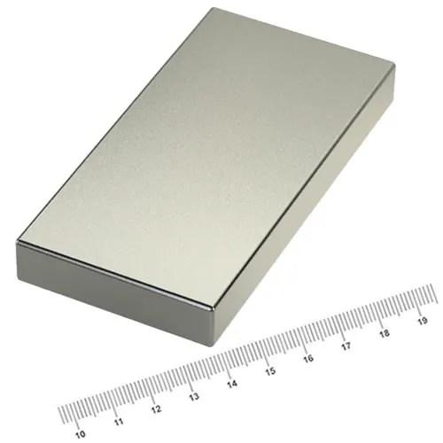 80 x 40 x 10mm Powerful Neodymium Magnet Block N45 Ni