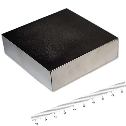 80 x 80 x 24mm Block Neodym Power Magnet N52 Ni
