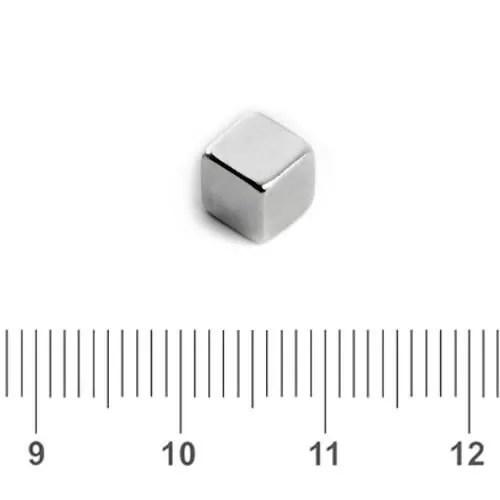 Cube Magnet Neodymium Silver N45 5mm