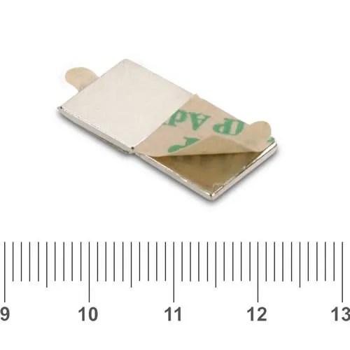3M Flat Selfadhesive Square Magnet N35 10 x 10 x 1mm