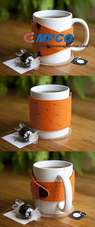 DIY Foxy Magnetic Mug Sleeve