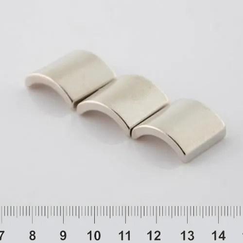 Segment Neodymium Magnet Nickel N52