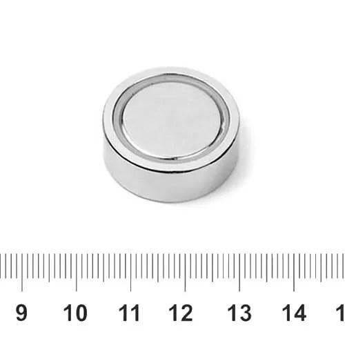 Neodymium Flat Steelpot 25mm