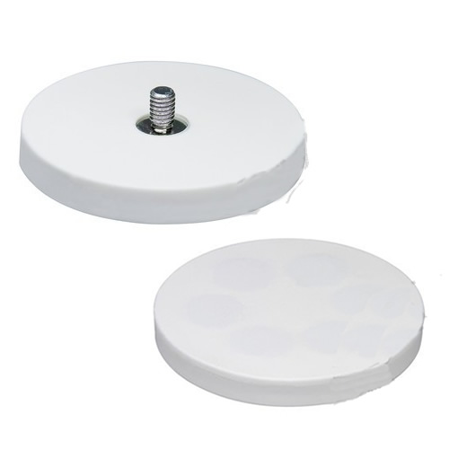 External Thread White Rubber Coating Magnet