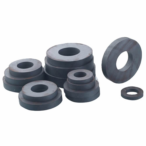 Anisotropic Ring Hard Ferrite Magnets