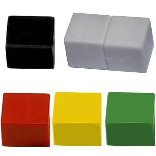Cube Neodymium Plastic Magnets