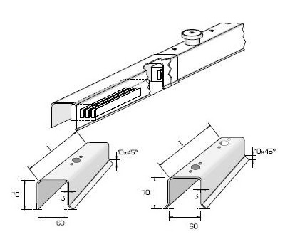 U-Profile Shuttering System Dimension