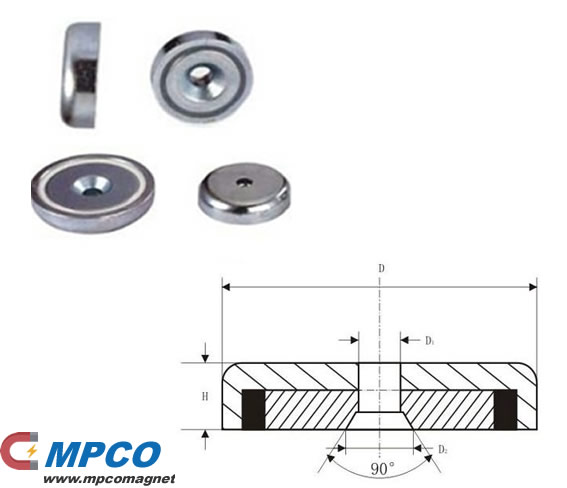 Round Base Magnets - NA Series powerful pot magnet