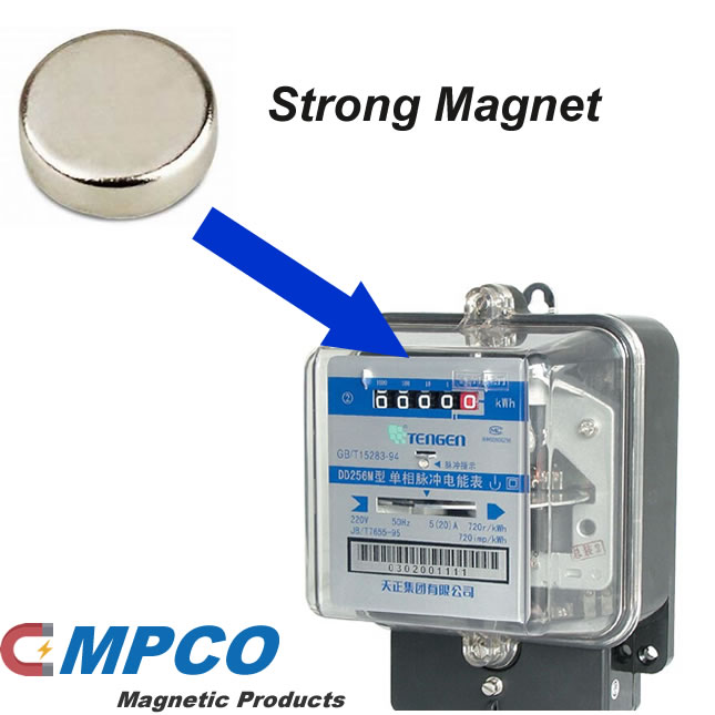 How can a strong magnet steal electricity