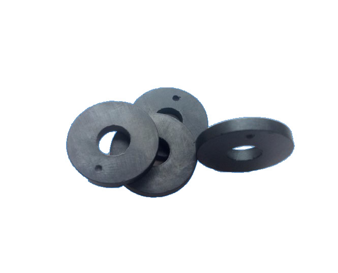 2-Polar Ring Axial Ferrite Magnet