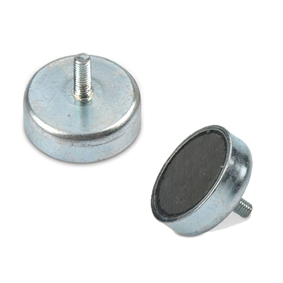 Ceramic Pot Magnets with External Thread